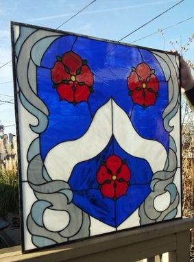 Custom Made Stained Glass Panel - Family Crest (P-33)
