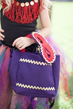 Custom Made Purple And Red Treat Bag For The Glitzy Gypsy Costume