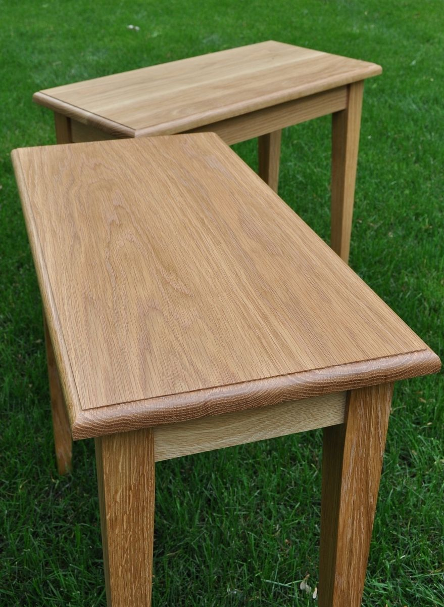 Oak Side Table: Hand Crafted White Oak Side Tables By Glessboards