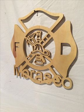 Custom Made Maltese Cross Wood Cut Out With Your Name Embedded Into