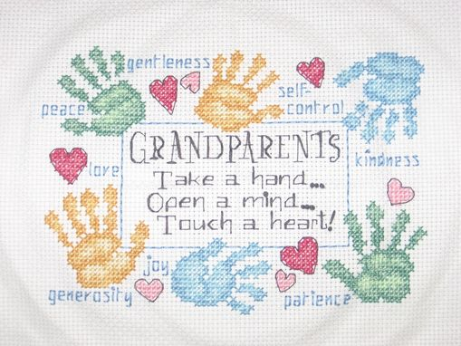Custom Made Grandparents Or Godparents Virtues Cross Stitch
