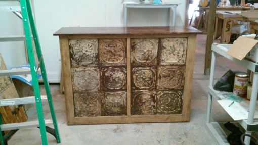 Custom Made Reclaimed Tin Tile Mobile Bars
