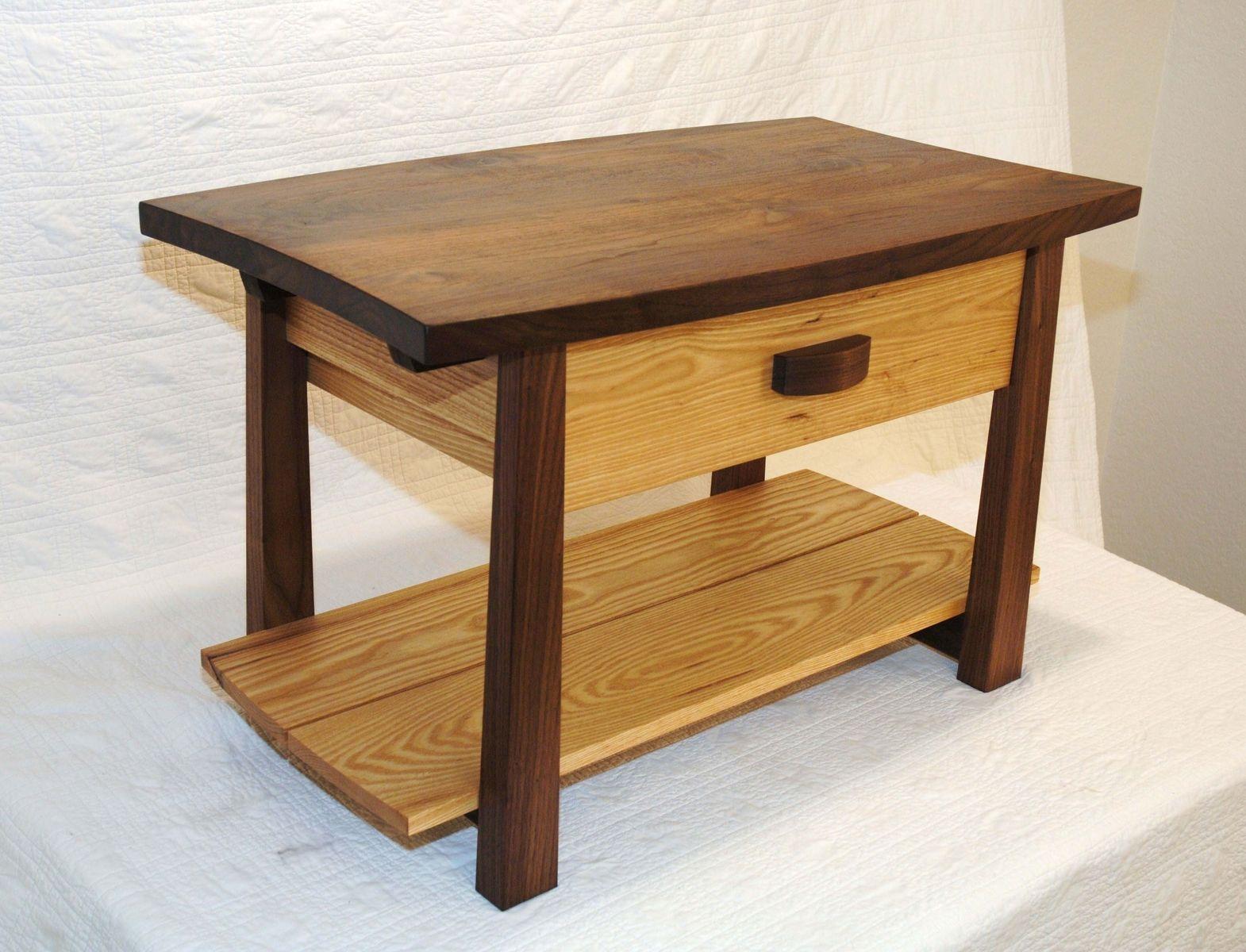 Custom made walnut and ash coffee table