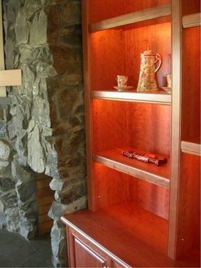 Custom Made Fireplace Bookshelf