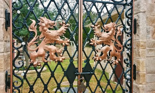 Custom Made Entry Gates-Lion Theme