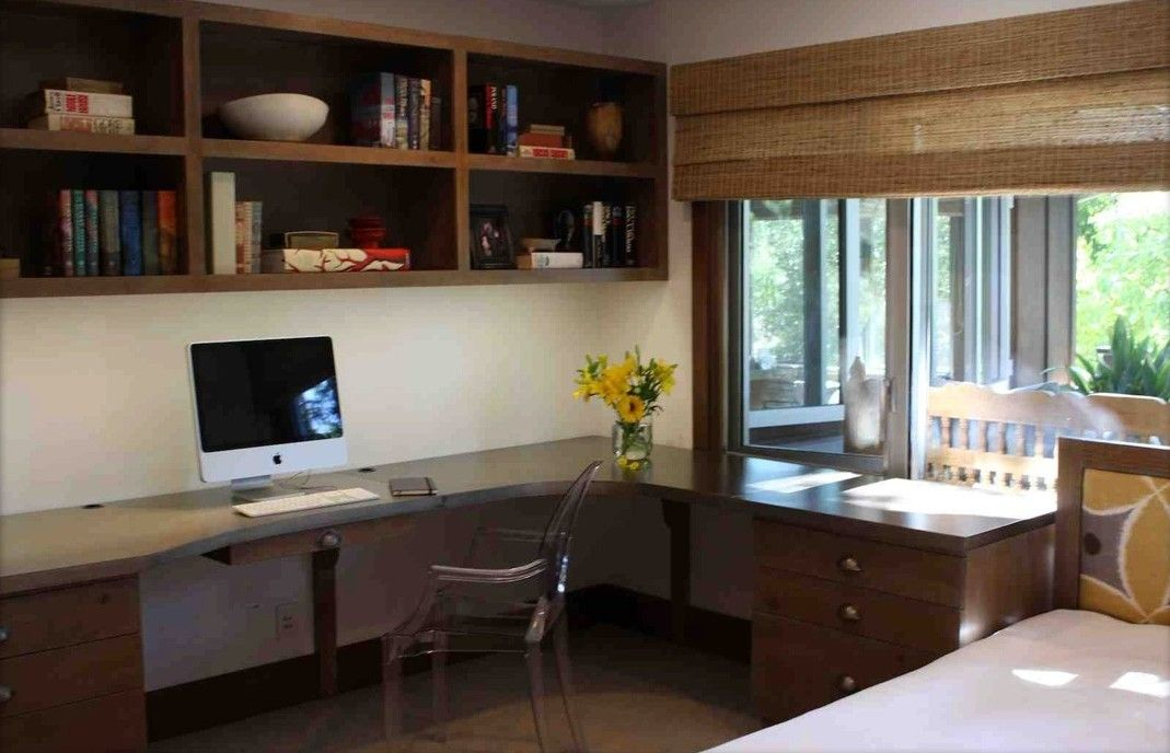 custom made urban chic home officeguest room - Modern Home Office Guest Room