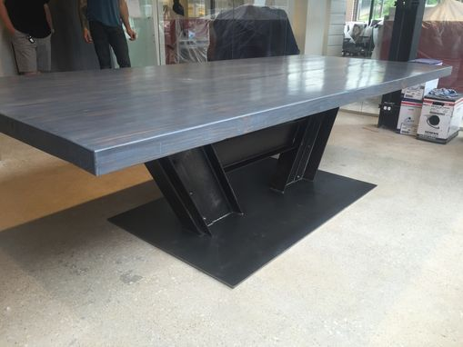Custom Made Reclaimed Beam And Wood Conference Room Table