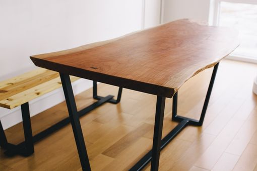 Custom Made Slim's Cherry Slab Dining Table