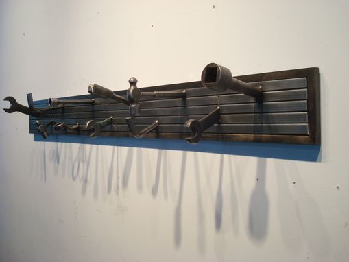 Custom Made Post Industrial Coat Rack