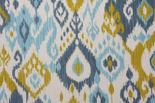 Custom Made Curtain Panels 72l X 50w Mill Creek Swavelle Shedlack Ikat Stone Blue
