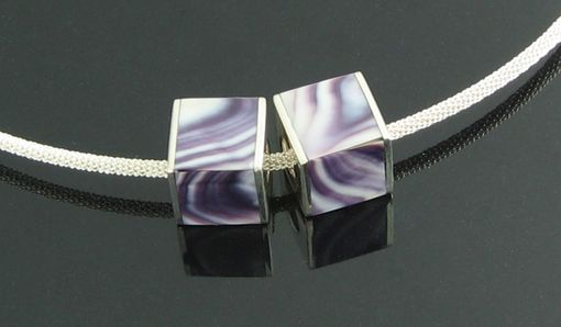 Custom Made Wampum Shell Cube Charm, Fits Any Pandora Like Bracelet.