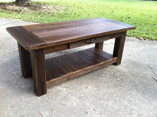"Custom Made Reclaimed Wood ""Atchafalaya"" Coffee Table (Cypress)"