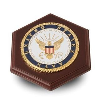 Custom Made U.S. Navy Medallion Paperweight