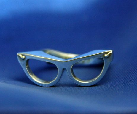 Custom Made Nerd Glasses Ring 1