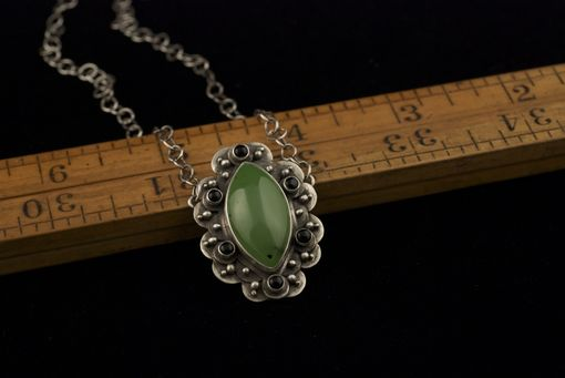 Custom Made Scalloped Jade Necklace