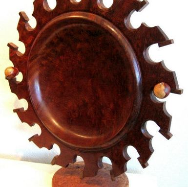 Custom Made Sun Bowl With Stand,  Redwood Burl