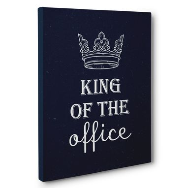 Custom Made King Of The Office Canvas Wall Art