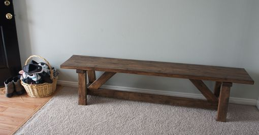 Custom Made Farmhouse Bench