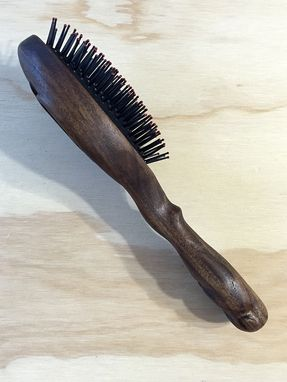 Custom Made Hairbrush Keepsake With Monogram And Animal Sculpted Handle
