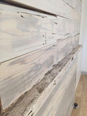Hand Made Reclaimed Cedar White Wash Sliding Barn Door By