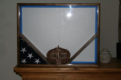Custom Made Military Shadowbox For Retiring Idmt