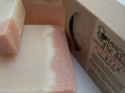 Custom Made Ginger Raspberry Ale Beer Handcrafted Lye Soap