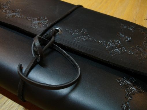 Custom Made Leather Wrap Around Book Cover