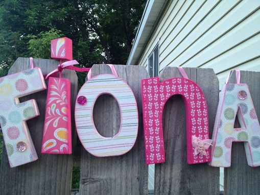 Custom Made Custom Wood Letter Set--5 Letters