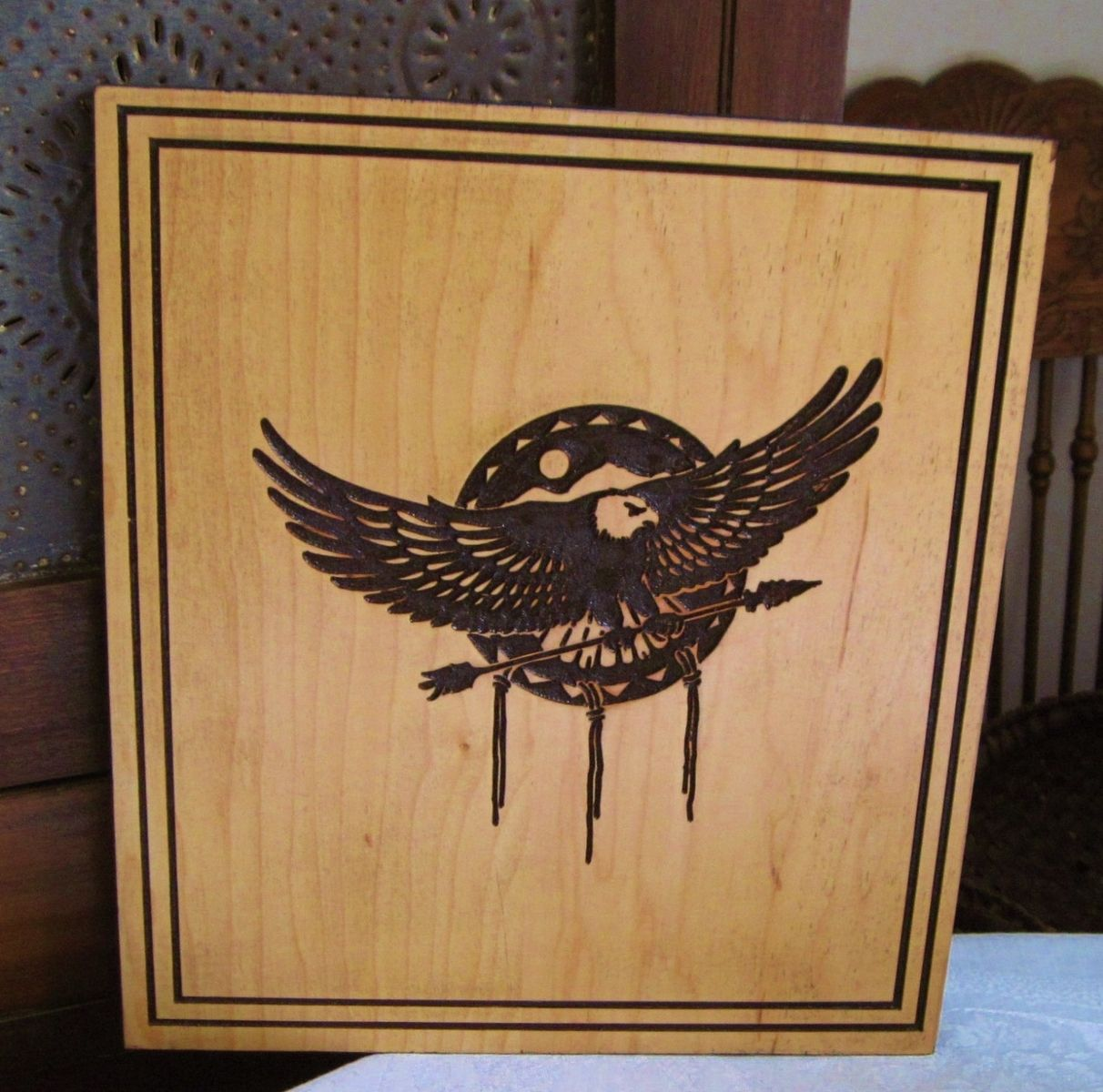 Hand Made Native American Indian Inspired Eagle And
