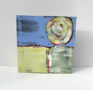 "Custom Made Small Abstract Painting Modern Contemporary Artwork ""Square One"""