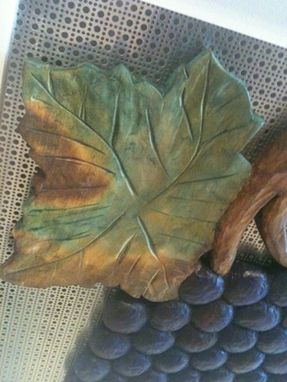 Custom Made Carved Grapes And Leaves