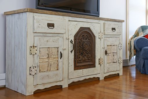 Custom Made Katama Media/Entertainment Console, Antique Whitewash
