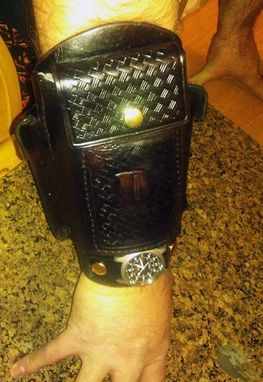 Custom Made Large Iphone Survival Cuff With Automatic Watch Aka Cowboy Cuff