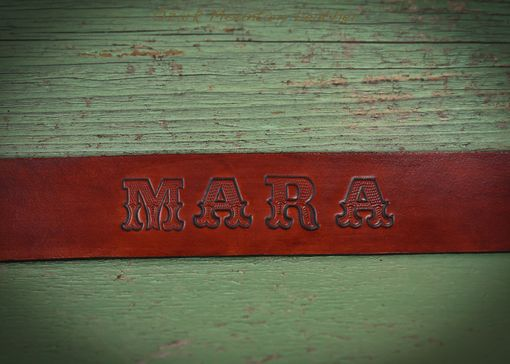 Custom Made Leather Dog Collar With Custom Name And Address