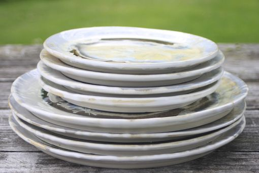 Custom Made Ivory Crystalline Dinnerware