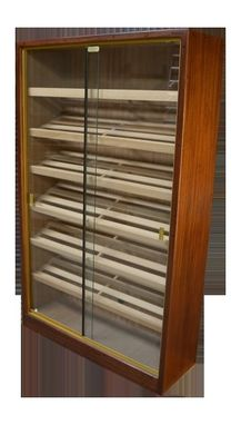 Custom Made Stand Up Wall Display Cigar Humidor