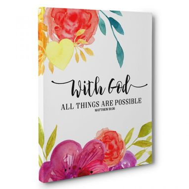 Custom Made With God All Thing Are Possible Canvas Wall Art