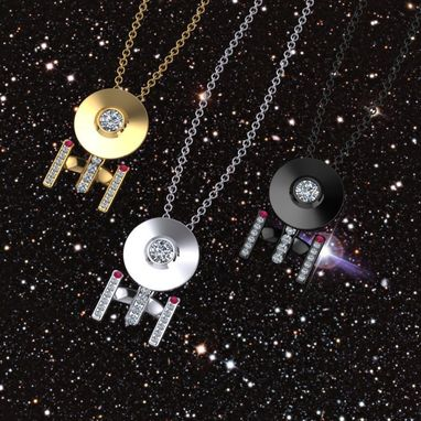 Custom Made Boldly Going Around Your Neck