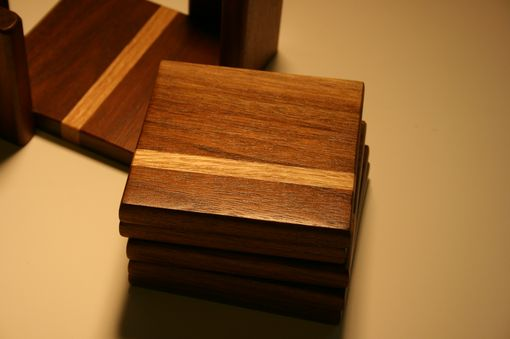 Custom Made Walnut Coaster Set