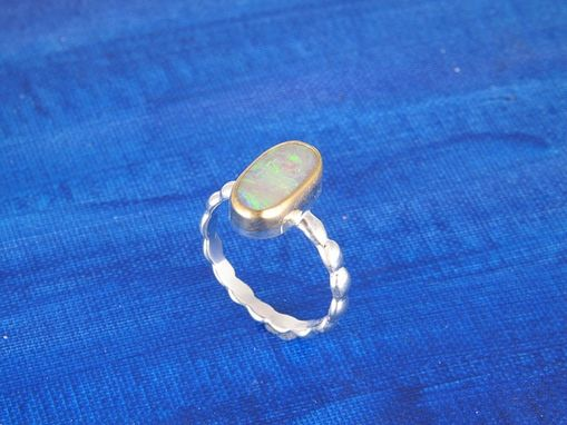 Custom Made Gold And Sterling Opal Ring