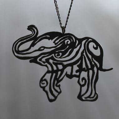 Custom Made Faith Elephant Metal Cut