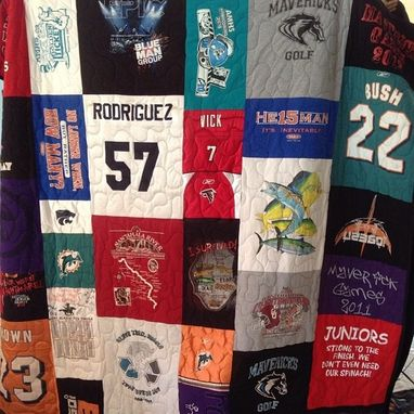 "Custom Made Tshirt / Memory Quilts ""Mosiac Style"""