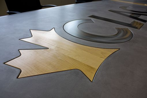 Custom Made Concrete Top And Steel Base Conference Tables Design And Fabrication