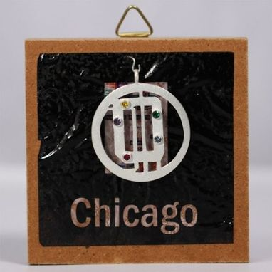 Custom Made Subway Map Neck Chicago (Multi)