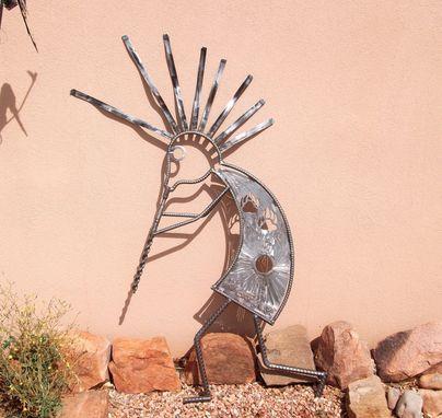 Garden Art Home Decor Outdoor Sculpture Kokopelli Recycled