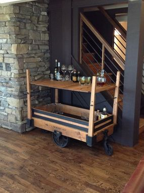 Hand Made Coffee Table Drink Cart Pub Table 3 In 1 By