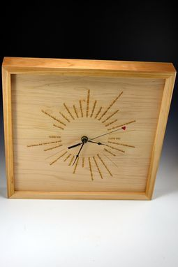 Custom Made Laser Engraved Clock Made From Maple
