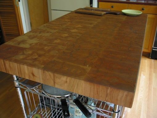 Custom Made Butcher Block Island Top