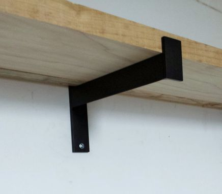 "Custom Made 10"" Industrial Heavy Duty Shelf Bracket. Metal Angle Brackets. Shelf Bracket**"