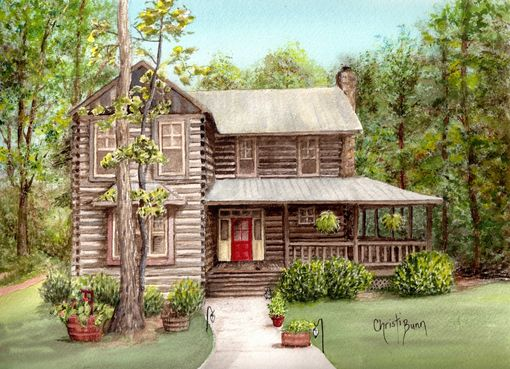 Custom Made Custom Architectural Watercolor